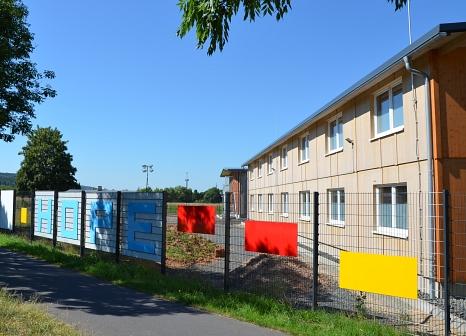 Das Gelände der ehemaligen Erstaufnahmeeinrichtung in Cappel wird das Land übernehmen und es für das Ausbildungszentrum sowie die Geschäftsstelle der Hessischen Jugendfeuerwehren nutzen.©Universitätsstadt Marburg/Philipp Höhn