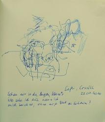 Christel Stroh in der Kriklakrak-Zeichengruppe bei Ana Laibach - Schau mir in die Augen, Kleines ...
