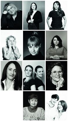 """Collage des Fotoprojekts für die Broschüre """"GRÜNDERIN""""©Anna Scheidemann Photography"""