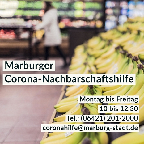 Corona-Hilfe im Januar©Universitätsstadt Marburg