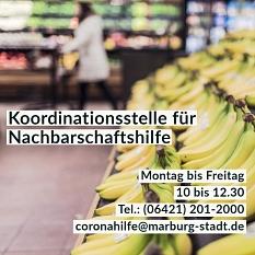 Corona Nachbarschaftshilfe©Universitätsstadt Marburg