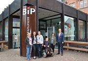 Fünf Jahre BiP - vernetzte Beratungskompetenz auf höchstem Niveau für Stadt und Landkreis. Darüber freuten sich (von links): Ruth Schlichting (Landkreis Marburg-Biedenkopf), Landrätin Kirsten Fründt, Dr. Petra Engel (Universitätsstadt Marburg), Peter Günt