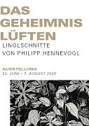 Das Geheimnis Lüften, Philipp Hennevogl, Ausstellungsflyer