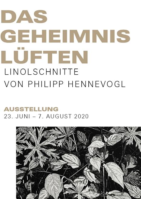 Das Geheimnis Lüften, Philipp Hennevogl, Ausstellungsflyer©Mirjam Klein