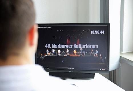 Das Video vom 46. Marburger Kulturforum kann weiterhin auf Youtube oder Facebook angesehen werden.©Simone Schwalm, Stadt Marburg