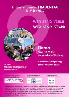 Demo zum Internationalen Frauentag am 8.März©Universitätsstadt Marburg