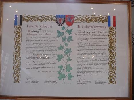 Der Freundschaftsvertrag©Universitätsstadt Marburg