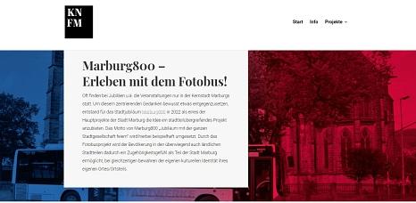 Der Marburg800-Fotobus kommt ab Jubiläumsbeginn im März 2022 in Marburgs Dörfer und Stadtteile.©KNFM