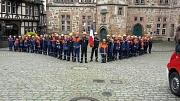 Der Marburger und der Poiteviner Feuerwehrnachwuchs stellte sich zu einem gemeinsamen Foto auf