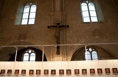 Die Ausstellung Homo picto-marbourgeois in der Kapelle Saint Louis©Universitätsstadt Marburg