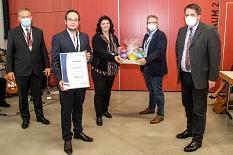 Die GSK Vaccines GmbH gewann den Preis in der Kategorie mittlere und große Organisationen.©Freya Altmüller, i.A.d. Stadt Marburg