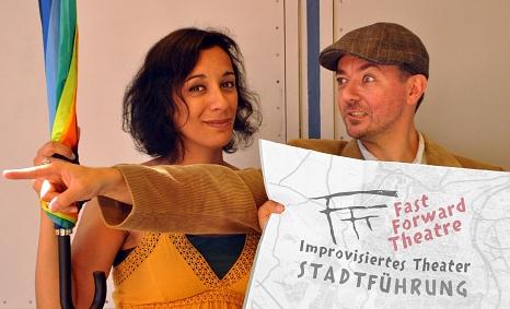 """Die improvisiertenStadt(ver)führungen finden im August und September im Rahmen der """"Sommerstadt Marburg"""" statt.©Fast Forward Theatre"""