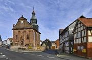 Die katholische Pfarrkirche St. Michael und St. Elisabeth ist eines der Wahrzeichen von Schröck. Sie wurde 1726 maßgeblich von den Einwohner*innen errichtet.