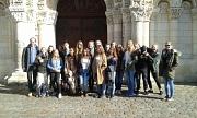 Die Schülerinnen und Schüler der MLS am Notre-Dame la Grande in Poitiers