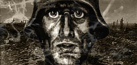 """Die Stadt Marburg hat einen Kunstwettbewerb zum Gedenken an die Opfer der Marburger Jäger ausgeschrieben. Begleitend dazu feiert am Freitag mit """"Krieg, Ludwig Renn und die Marburger Jäger im 1. Weltkrieg"""" das neue Stück der Hörtheatrale Premiere.©Hörtheatrale Marburg"""