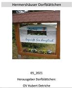 Dorfblättchen 05_2021_Deckblatt
