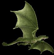 Fliegender grüner Drache