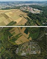 Drohnenfoto Hasenkopf und Luftbild mit Abgrenzung Hasenkopf©Universitätsstadt Marburg