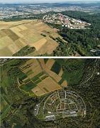 Drohnenfoto Hasenkopf und Luftbild mit Abgrenzung Hasenkopf