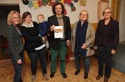 Dr. Mara Meske (von links), Isabel Pletzing mit Sohn Noah, Kai Abraham, Irene Knüllig und Michaela Weickelt stellten das Konzept für Drop In(klusive) in den Räumen der Evangelischen Familien-Bildungsstätte vor.