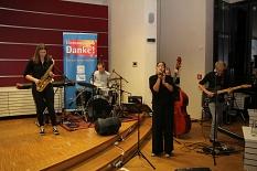 Die Band Phimus begleitete den Abend mit eigenen Stücken und gecoverten Songs musikalisch.©Landkreis Marburg-Biedenkopf