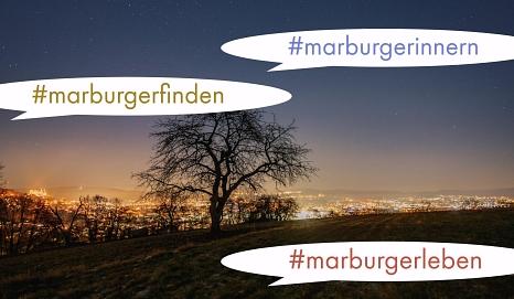 Marburg800 - ein Stadtjubiläum zum Mitmachen.©Henrik Isenberg, Foto i. A. v. Marburg800/Grafik: Sabine Preisler