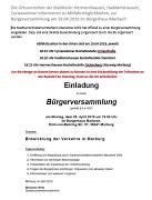Einladung Bustransfer zur Bürgerversammlung