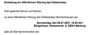 Einladung OBS 08.07.2021