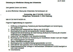 Einladung OBS am 27.08.2020©Hubert Detriche