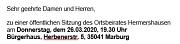 Einladung OBS Hermershausen 26.03.2020
