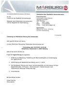 Einladung Ortsbeiratssitzung am 10.01.2019