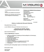 Einladung Ortsbeiratssitzung am 15.04.2021