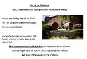 Einladung zu einer Weinprobe in Hermershausen