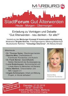 Einladung zum Stadtforum 2018©Universitätsstadt Marburg