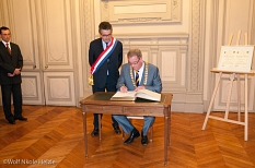 Eintragung ins Goldene Buch der Stadt Poitiers©Universitätsstadt Marburg