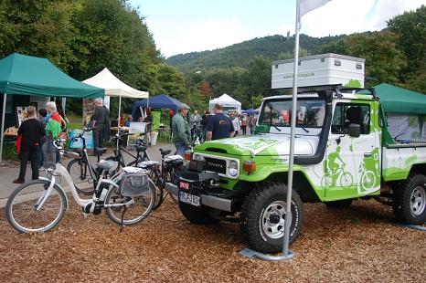 Elektrofahrräder beim Umweltaktionstag©Universitätsstadt Marburg Fachdienst Umwelt, Fairer Handel, Abfallwirtschaft