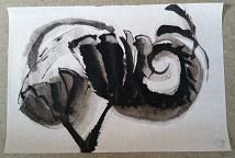Elisabeth Münch, erste Versuche zur sumi-e-Malerei