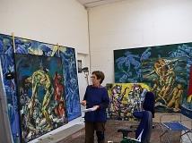Emö Simonyi in ihrem Atelier in München