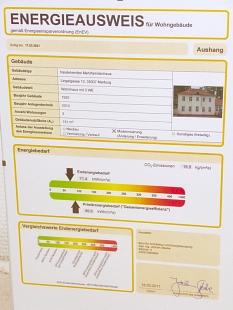 Energieausweis nach der Sanierung von Lingelgasse 13a©Universitätsstadt Marburg