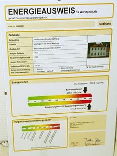 Energieausweis vor der Sanierung von Lingelgasse 13a©Universitätsstadt Marburg