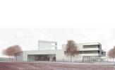 """Entwurf des Erstplatzierten, Büro """"Pussert Kosch Architekten"""" aus Dresden, für den Neubau eines Feuerwehrzentrums in Marburg-Cappel©Pussert Koch"""