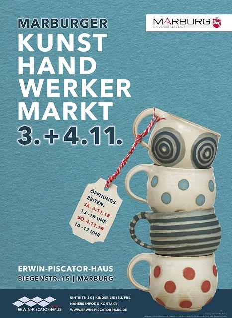 Plakat zum Kunsthandwerkermarkt 2018©Universitätsstadt Marburg