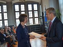 Die erste Ortsvorsteherin des Campusviertels ist Dr. Sabine Schock (l.).
