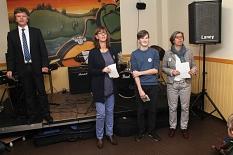 Bürgermeister Dr. Franz Kahle (von links), Ulrike Munz-Weege, Manuel Greim und Susanne Hofmann gaben den Startschuss zum Tag der offenen Tür.©Universitätsstadt Marburg