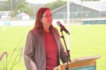 Stadträtin Dr. Kerstin Weinbach überbrachte die Grüße der Universitätsstadt Marburg.