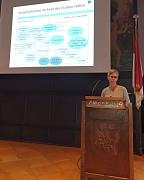 """Diplom-Pädagogin Elisabeth Schmutz hielt während des zweiten Fachtags Frühe Hilfen einen Vortrag zum Thema """"Kinder psychisch erkrankter und suchtkranker Eltern""""."""