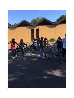 Fahrradlernkurs für Frauen im Portal Gisselberg©Universitätsstadt Marburg