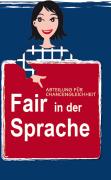 Faltblatt Fair in der Sprache