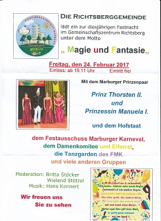 Fastnacht 2017 Richtsberggemeinde©Richtsberggemeinde
