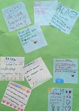 Feedback der Kinder zur Ferienbetreuung im Portal Gisselberg©Universitätsstadt Marburg